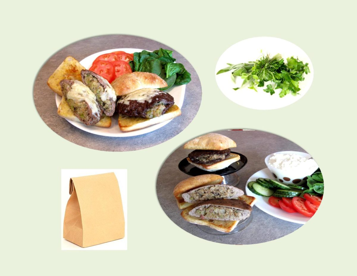 Savory Herb/Apple-Bacon Burgers