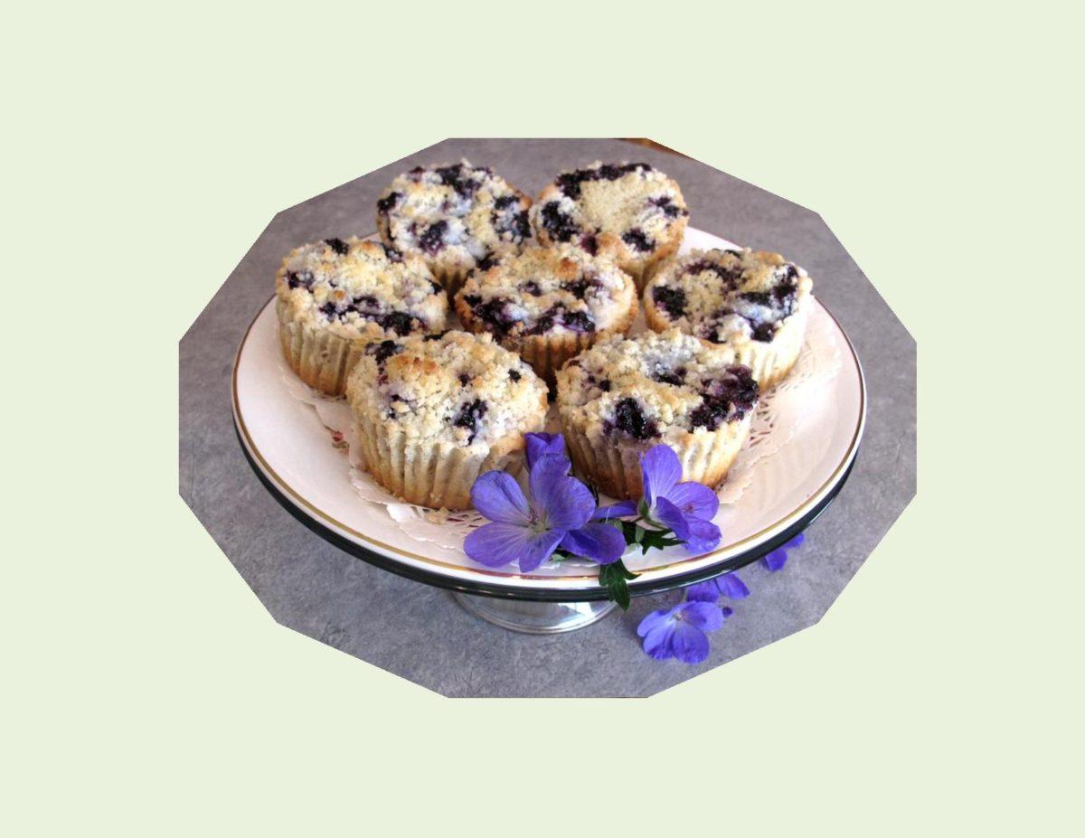 Sour Cream Blueberry Tarts