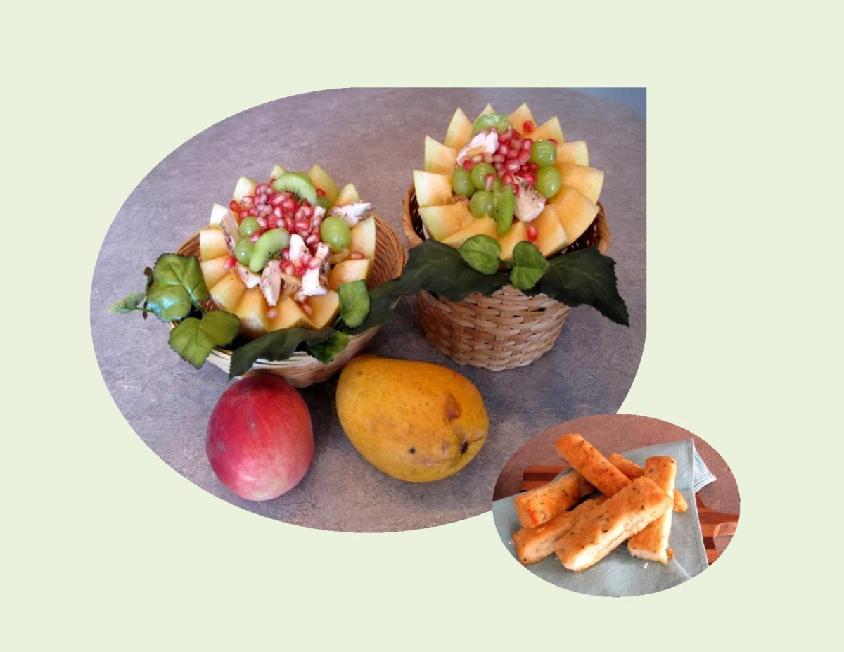 'Sugar Kiss' Melon with Chicken & Pomegranate