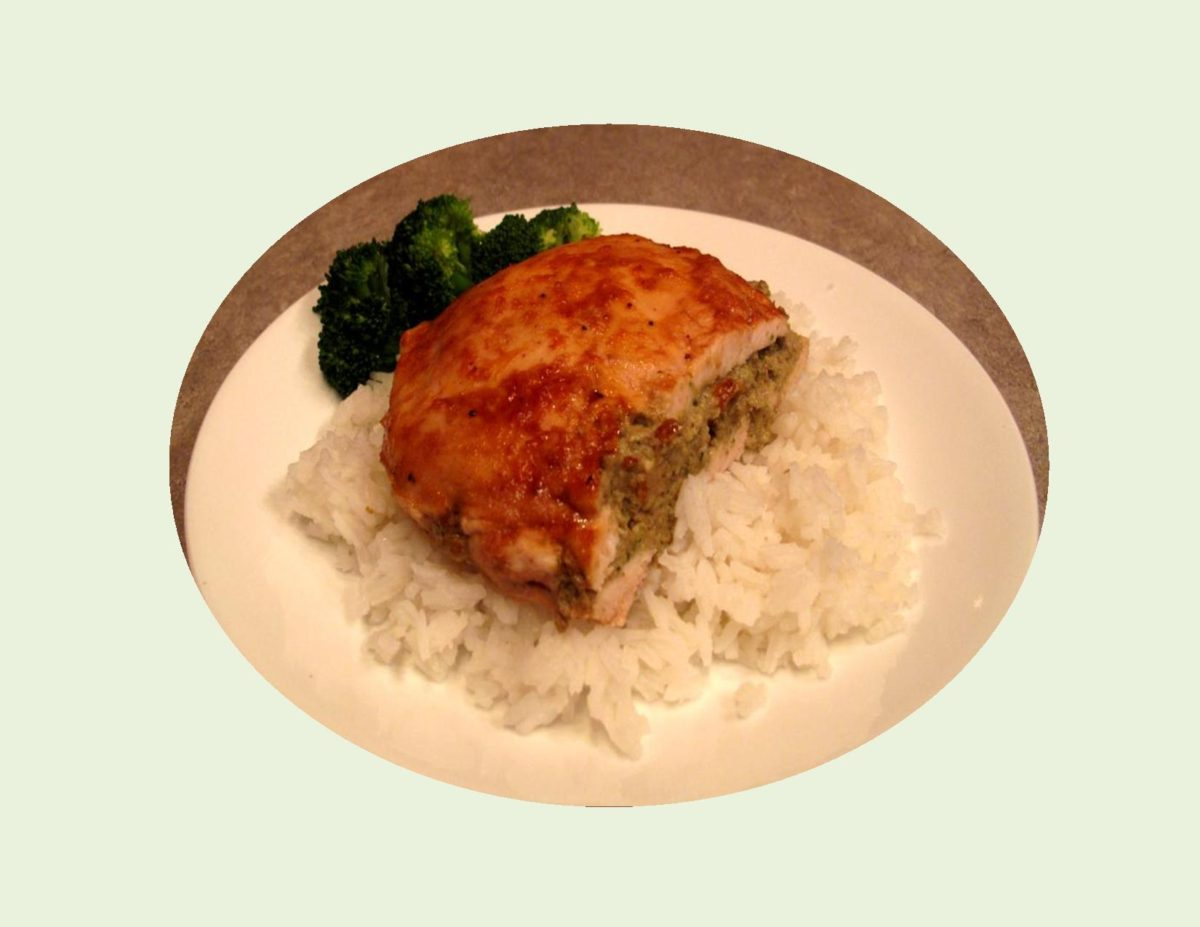 Pate' Stuffed Chicken Breast with Apricot Glaze