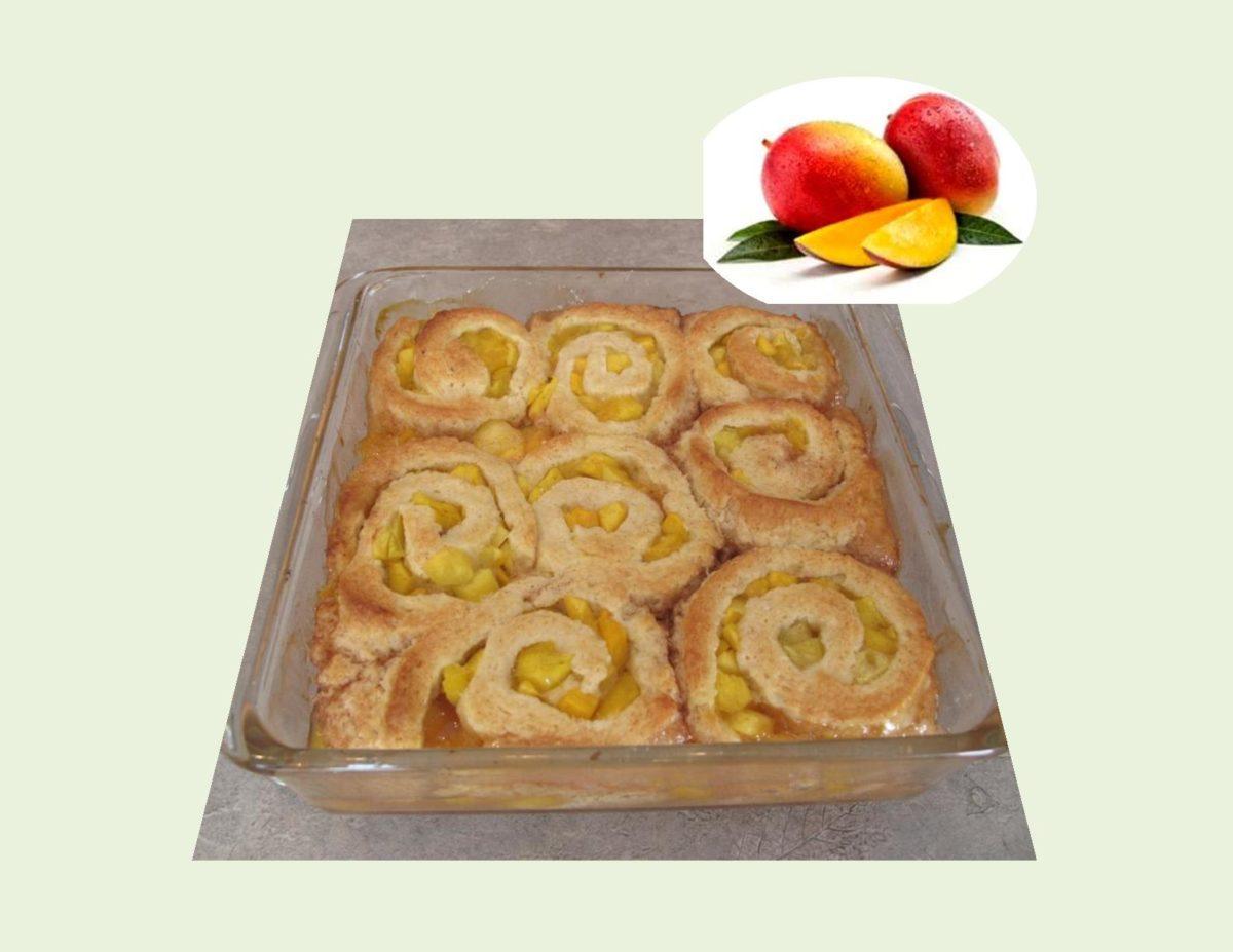 Glazed Mango Pinwheels