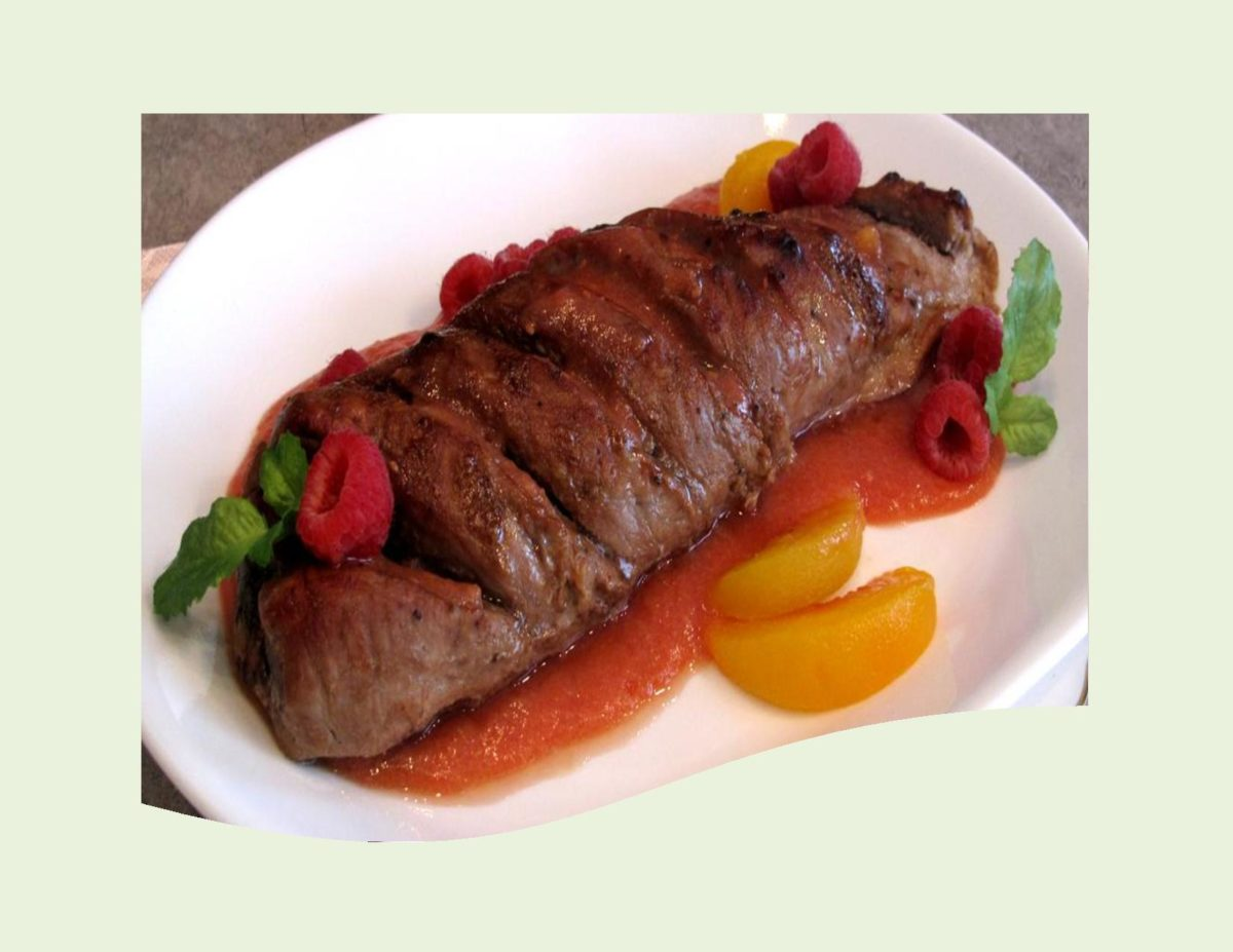 Pork Tenderloin with Raspberry-Nectarine Sauce