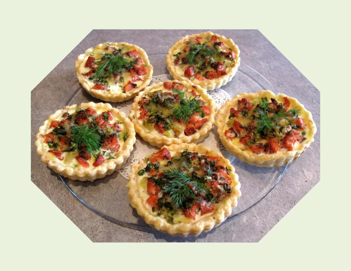Salmon, New Potato & Dill Mini Quiche