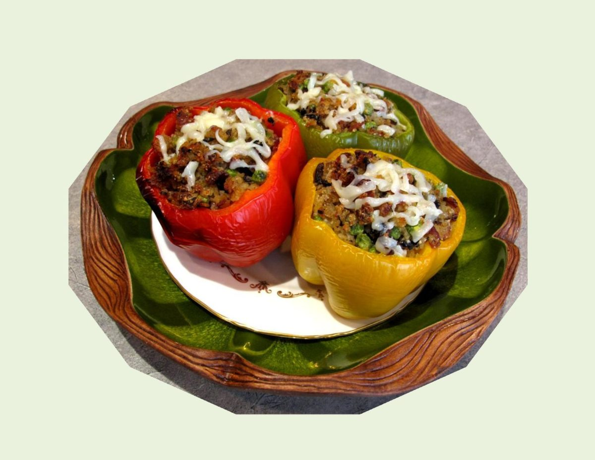 Peppers Stuffed with Bacon Risotto