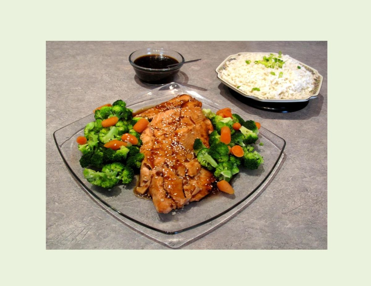 Baked Honey Teriyaki Salmon in Parchment