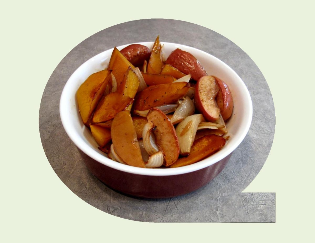 Oven Roasted Squash with Apples & Onions
