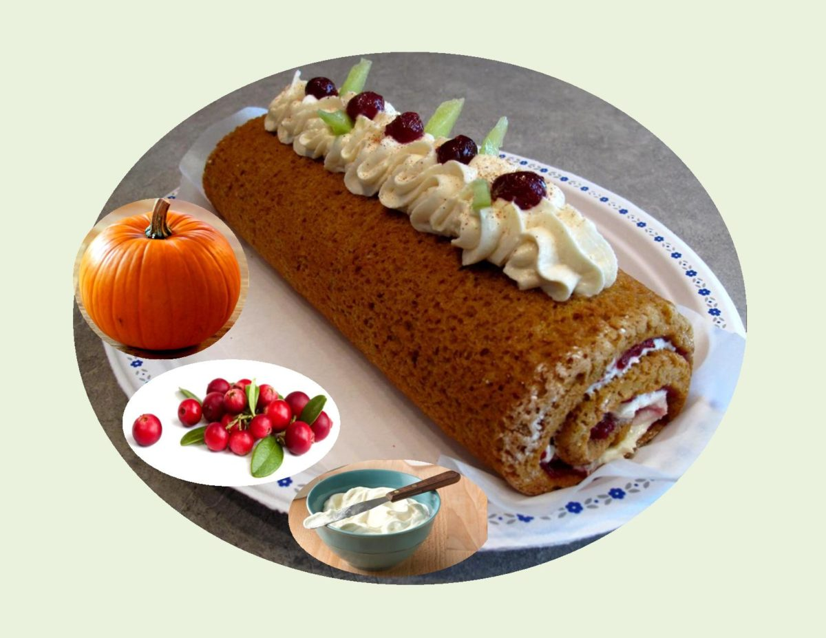 Pumpkin Cranberry Spice Roulade