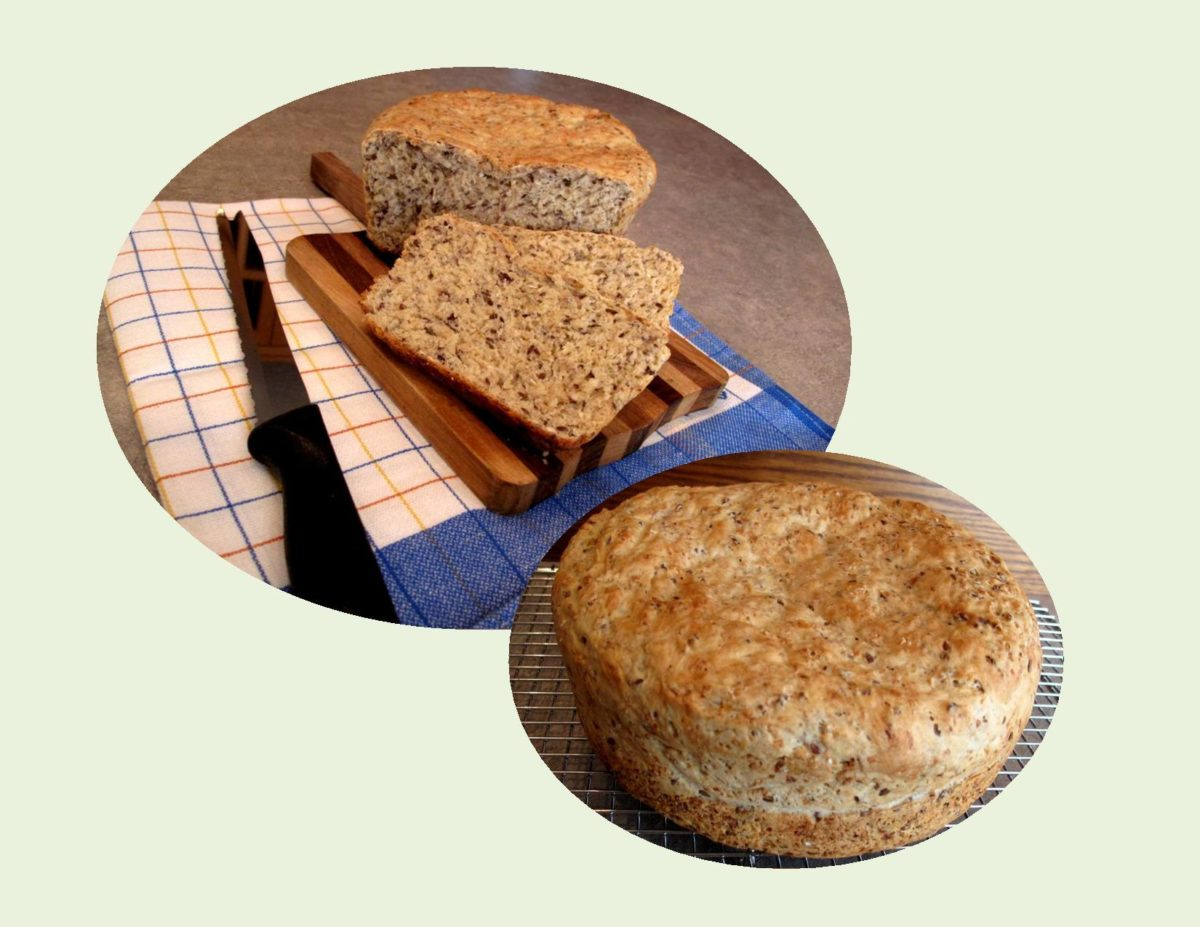 Oatmeal/Flax Batter Bread