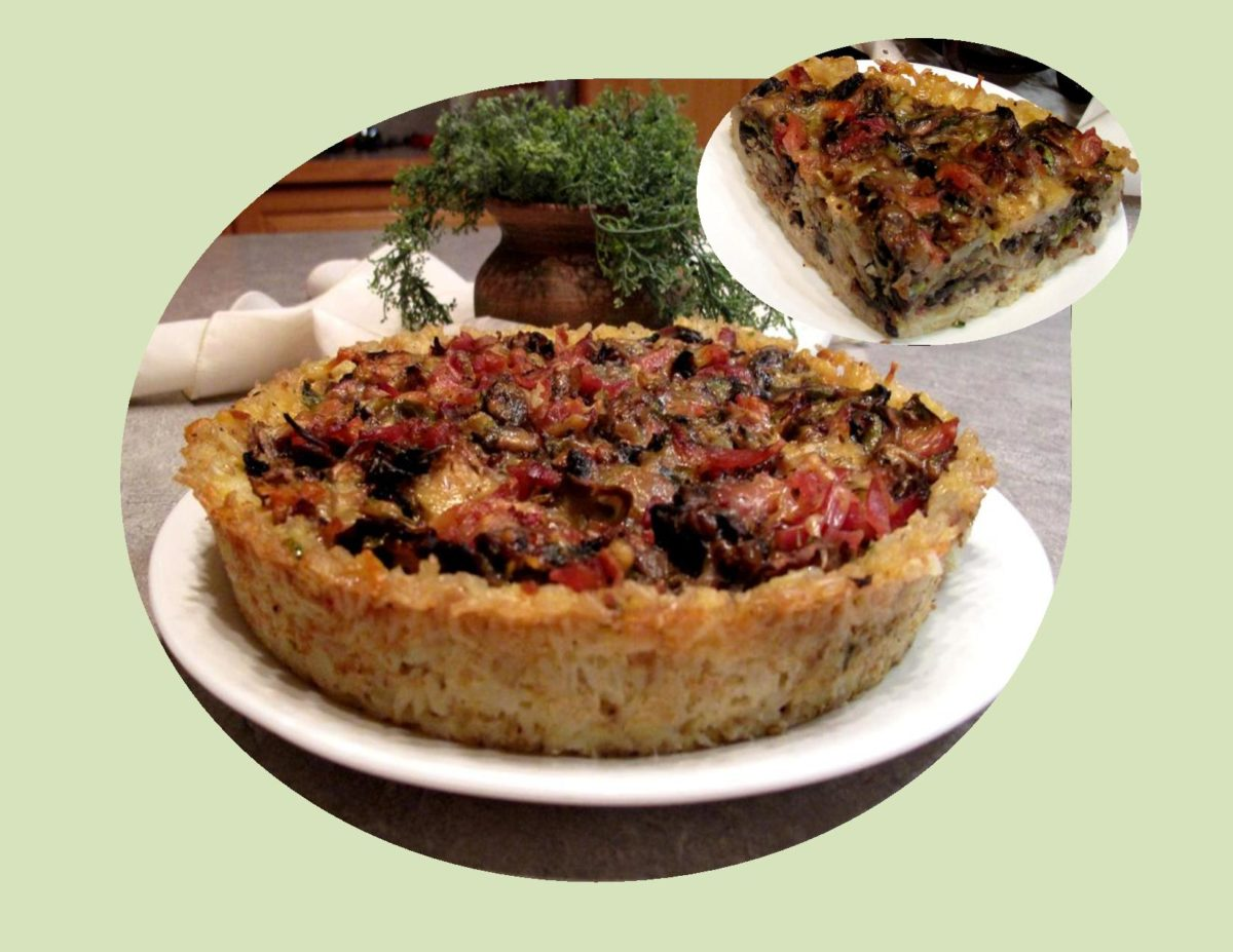 Brussels Sprouts & Wild Mushroom Quiche