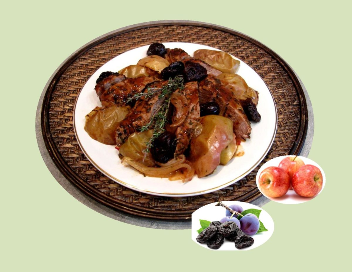 Roast Pork with Apples & Prunes