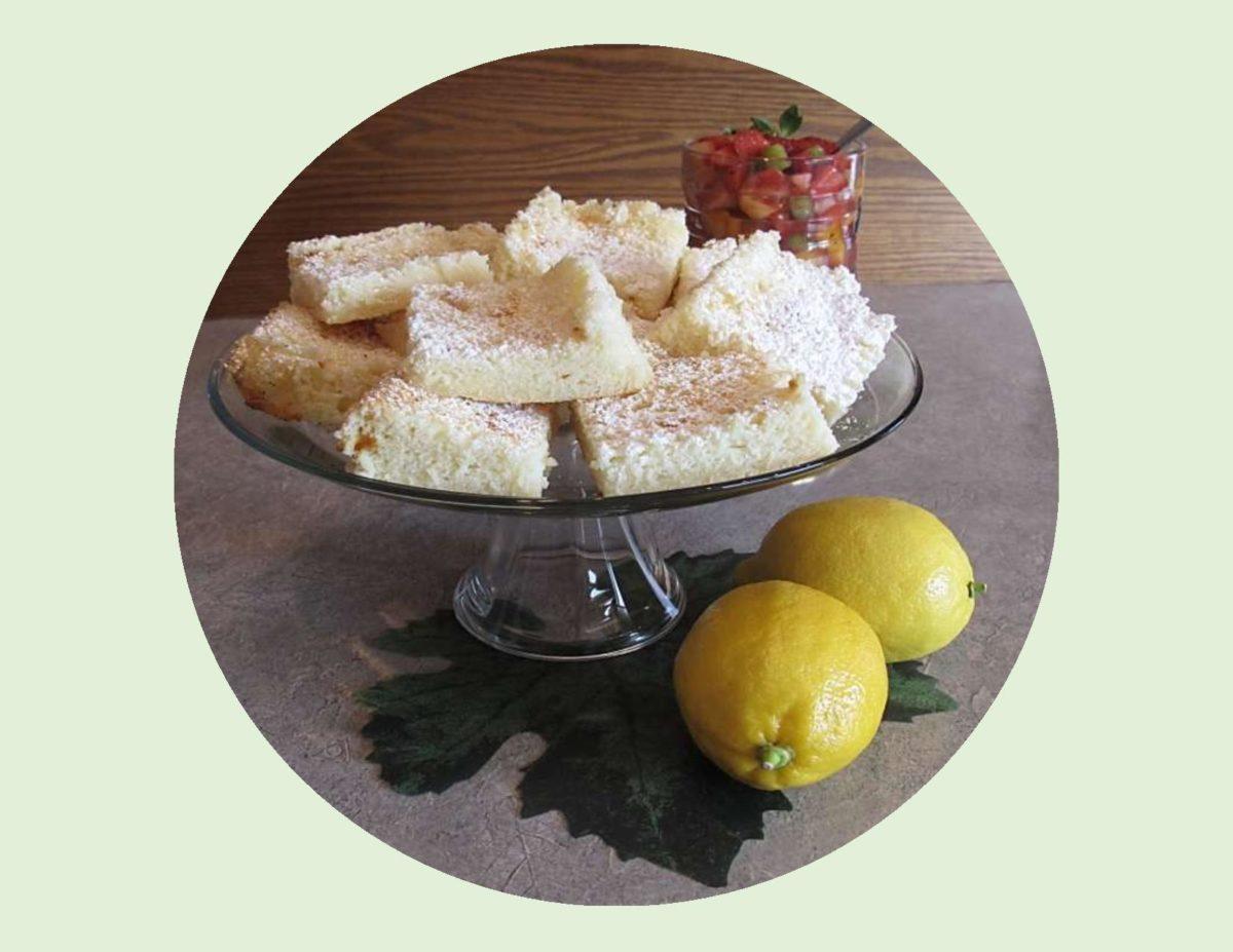 Two-Ingredient Lemon Bars with Fruit Salsa