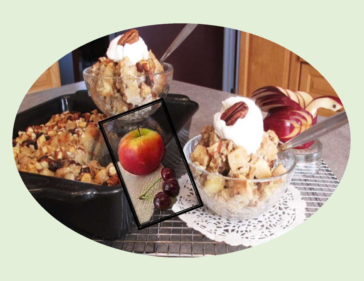 Apple & Sour Cherry Bread Pudding