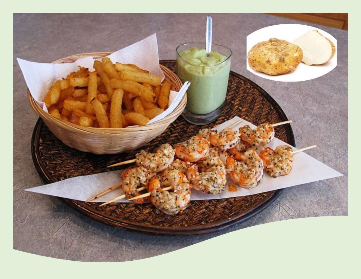 Roasted Parmesan Shrimp with Jicama Fries