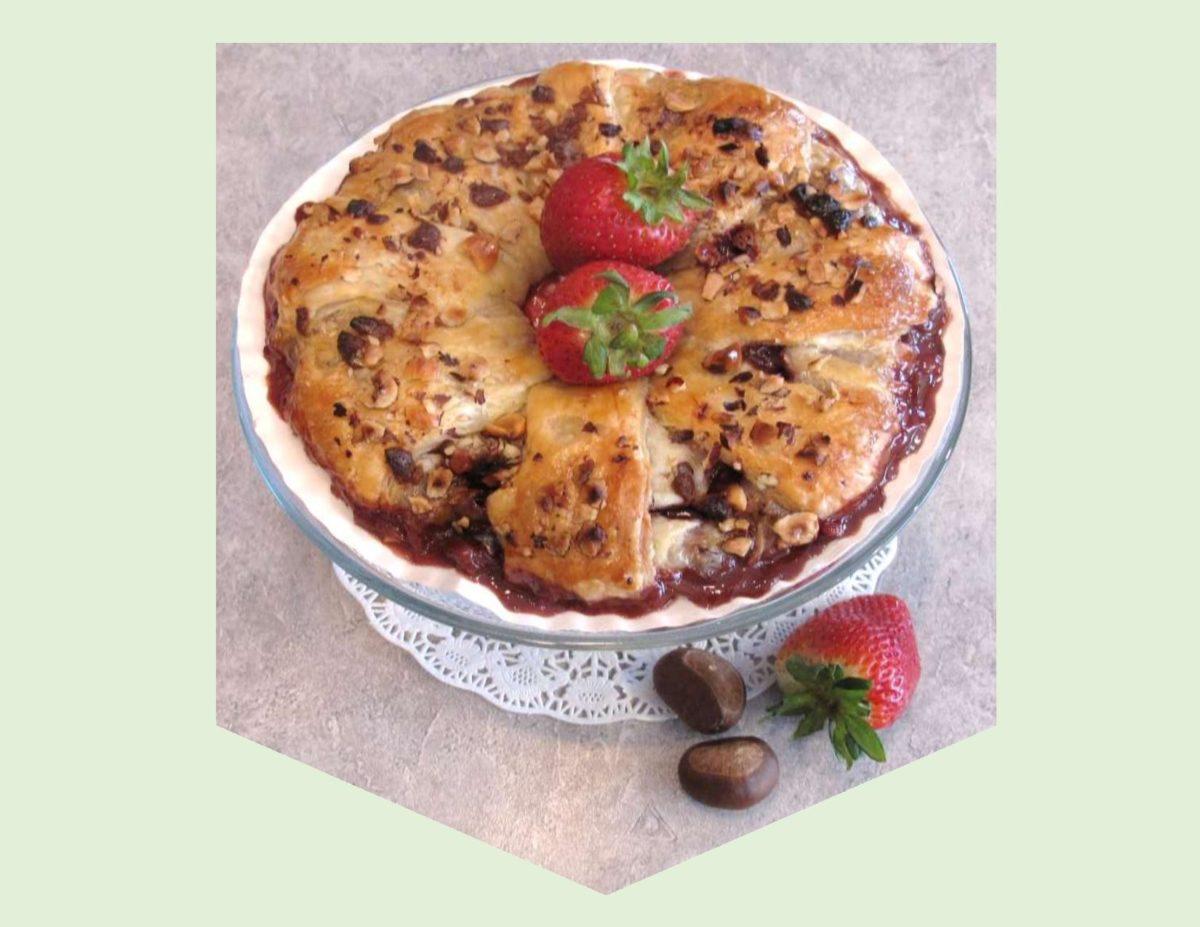 Roasted Strawberry & Hazelnut Pastries