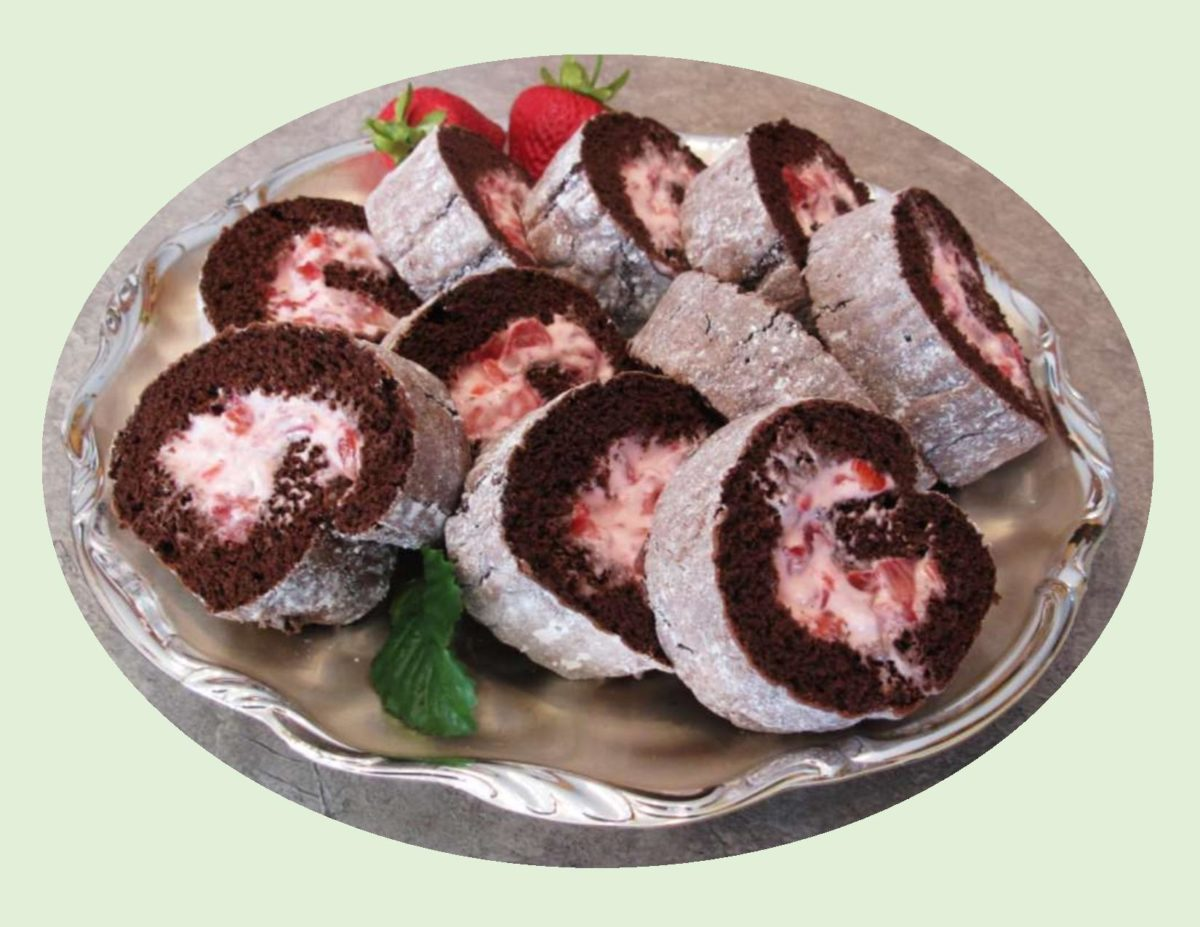 Strawberry Cream Chocolate Roll