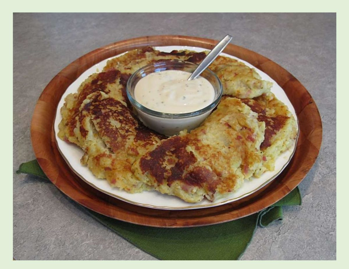 Potato Pancakes w/ Pork Filling