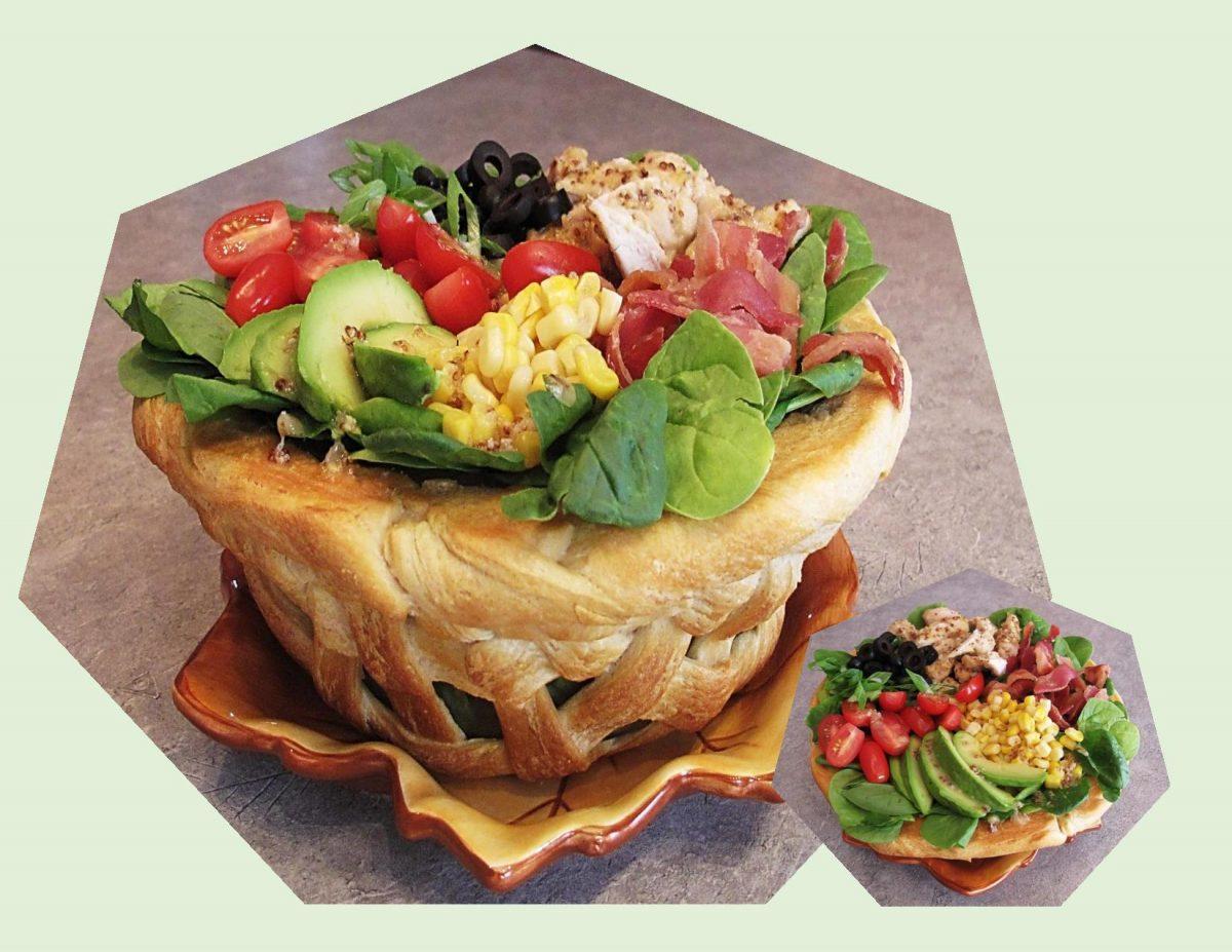 Chicken Salad in Braided Bread Bowls