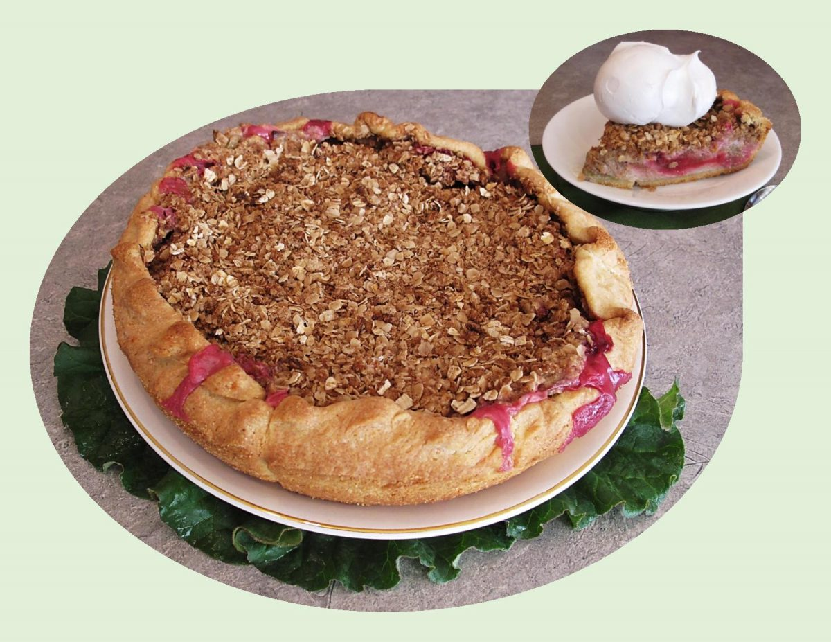Sour Cream Rhubarb Crostada