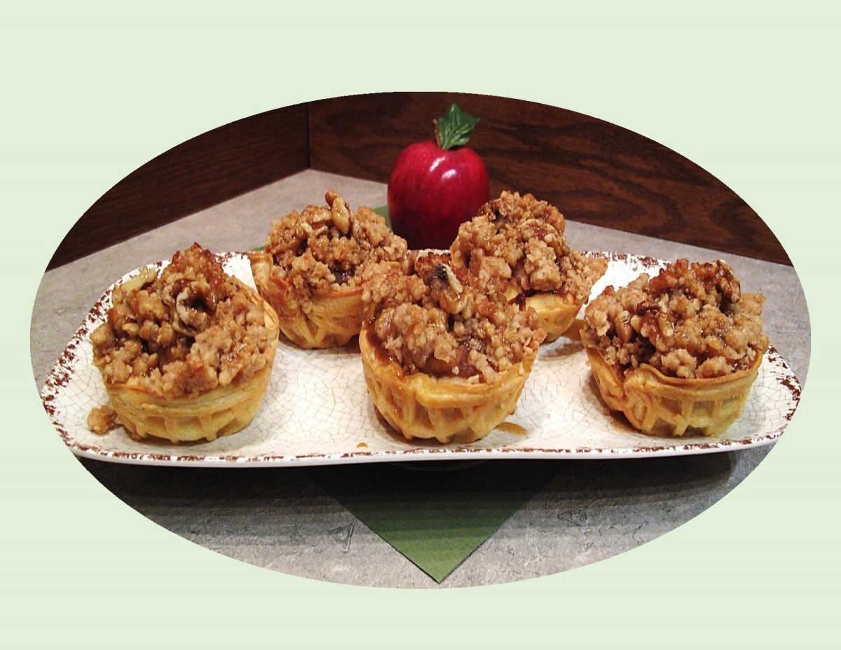 Mini Dutch Apple Waffle Pies