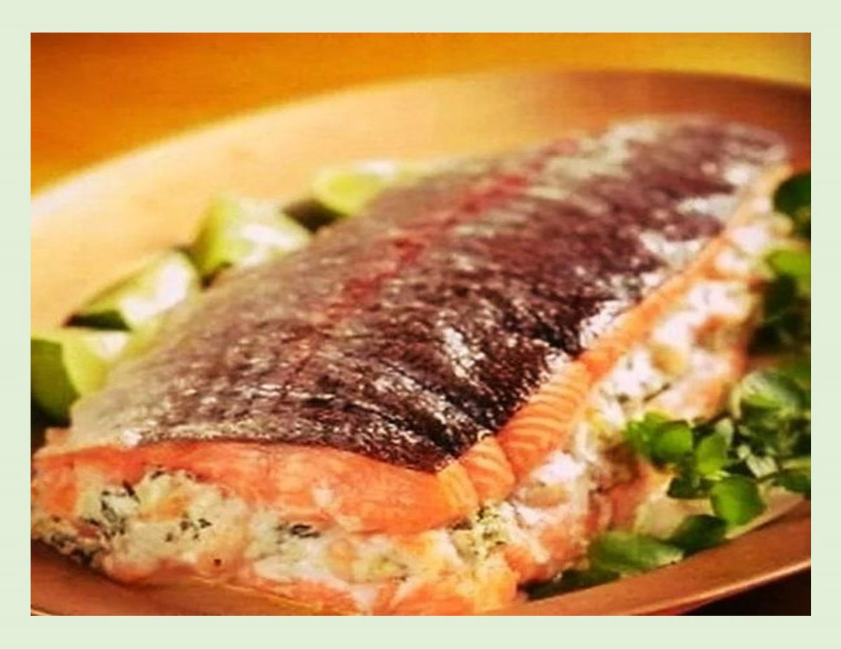 Seafood Stuffed Whole Salmon
