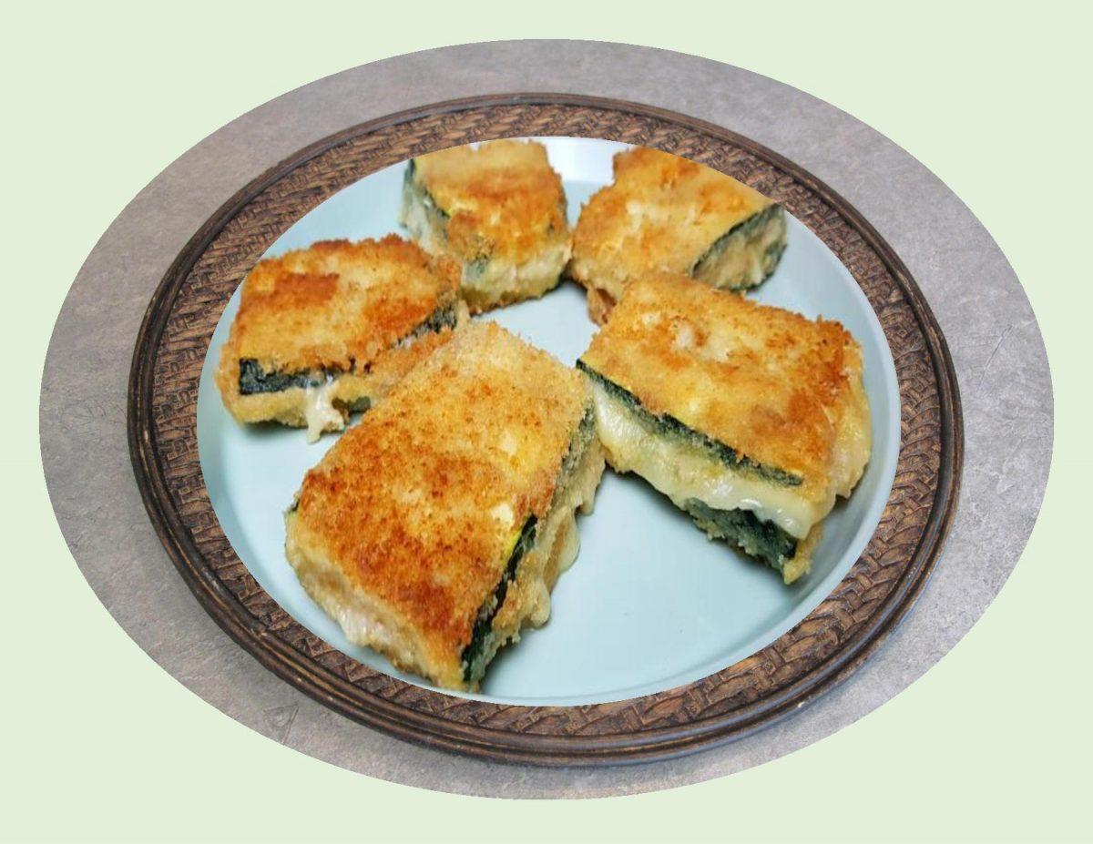 Zucchini Cordon Bleu w/ a Crunchy Crust