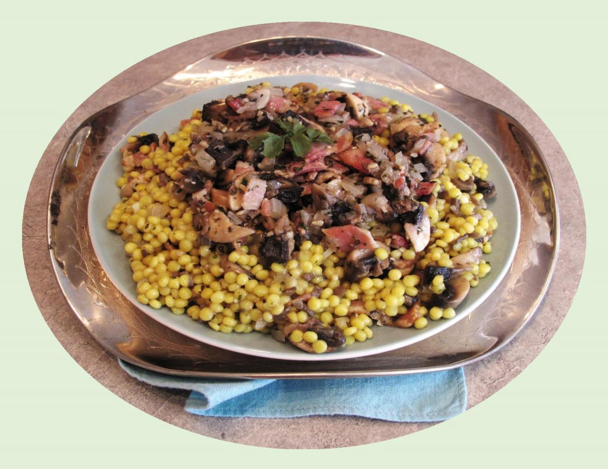 Pearl Couscous w/ Wild Mushrooms & Herbs