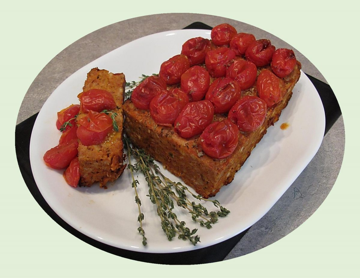 Turkey Meatloaf w/ Roasted Tomato & Mozzarella Cheese