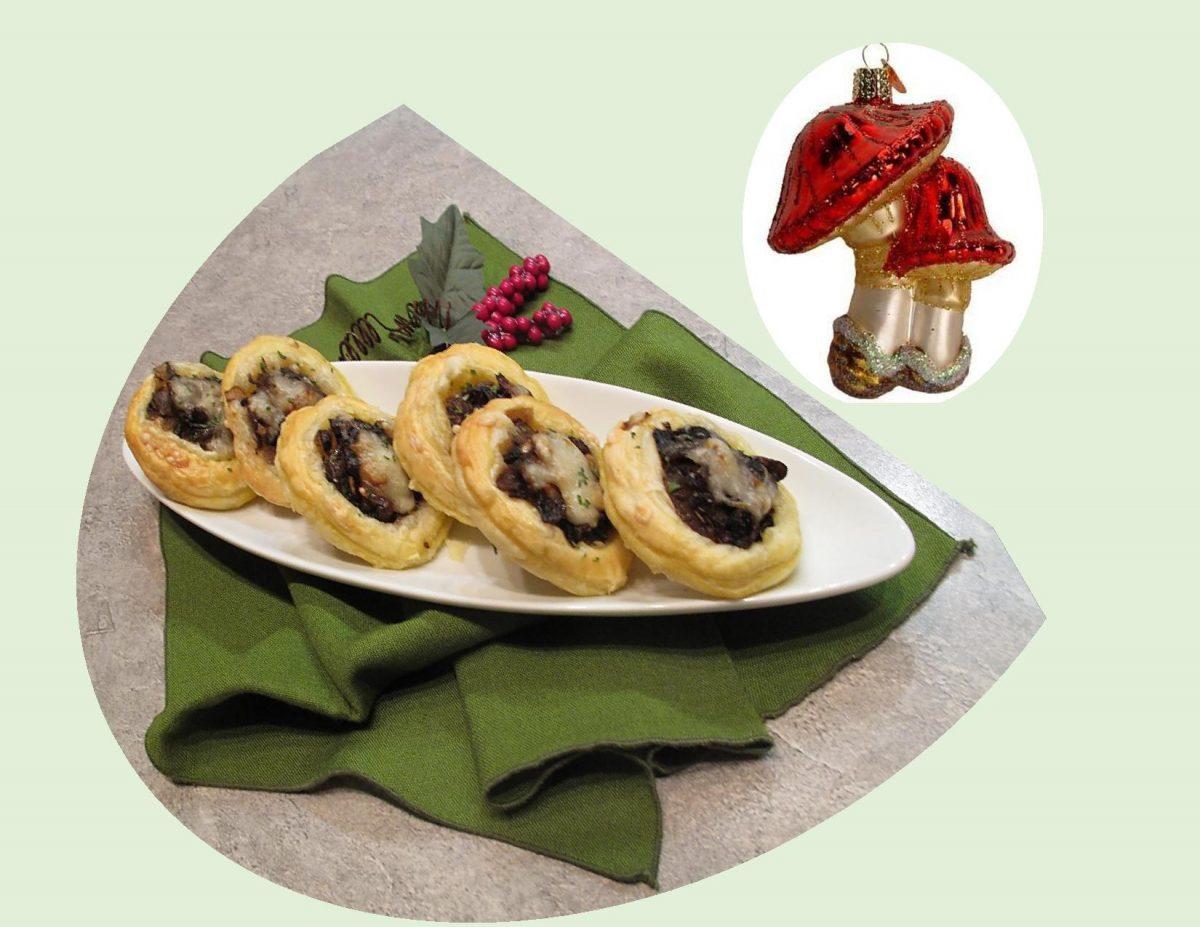 Mushroom, Caramelized Onion & Gruyere Finger Food