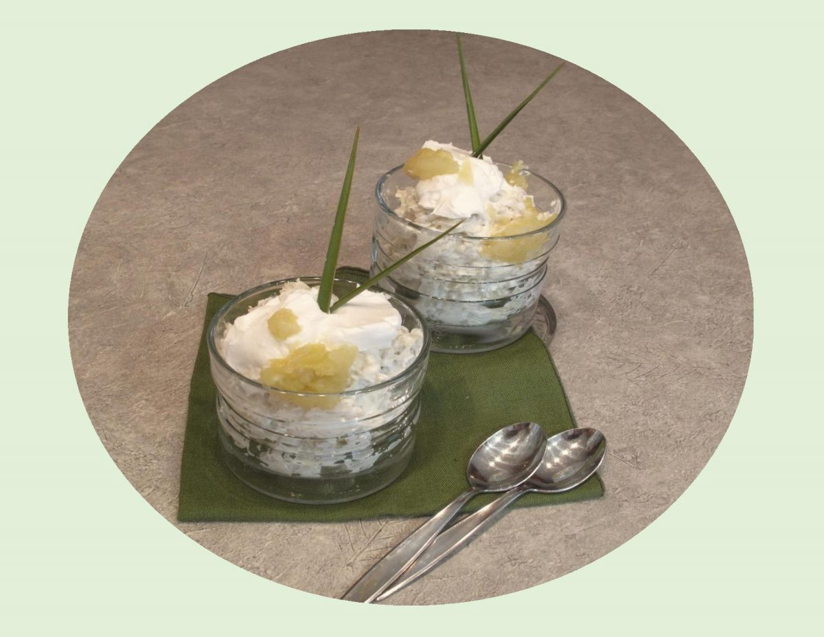 Anise Pineapple Barley Mousse